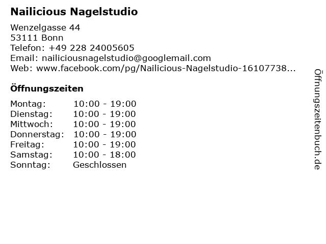 Nailicious Nagelstudio in Bonn: Adresse und Öffnungszeiten