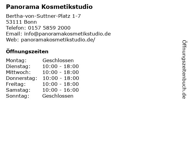 Panorama Kosmetikstudio in Bonn: Adresse und Öffnungszeiten