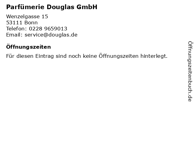 Parfümerie Douglas GmbH in Bonn: Adresse und Öffnungszeiten