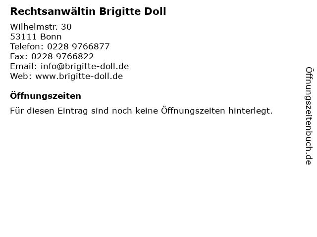 Rechtsanwältin Brigitte Doll in Bonn: Adresse und Öffnungszeiten