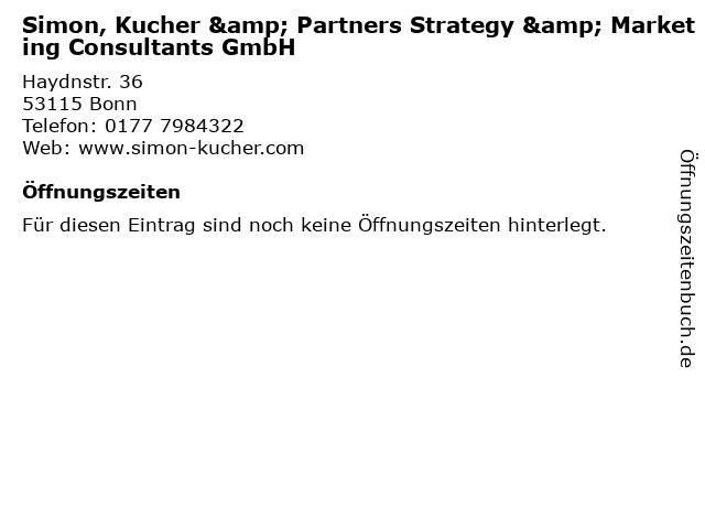 ᐅ Offnungszeiten Simon Kucher Partners Strategy Marketing