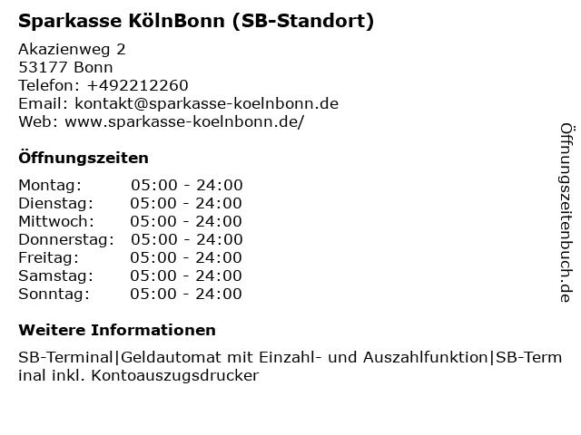 Sparkasse KölnBonn - Filiale Heiderhof in Bonn: Adresse und Öffnungszeiten