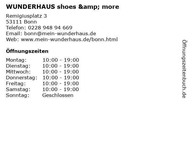 WUNDERHAUS shoes & more in Bonn: Adresse und Öffnungszeiten