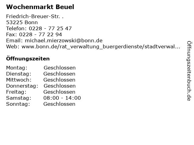 Wochenmarkt Beuel in Bonn: Adresse und Öffnungszeiten