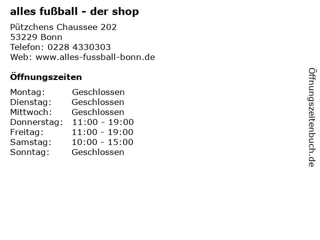 alles fußball - der shop in Bonn: Adresse und Öffnungszeiten