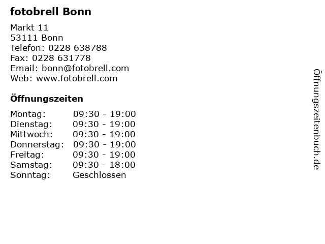 fotobrell Bonn in Bonn: Adresse und Öffnungszeiten