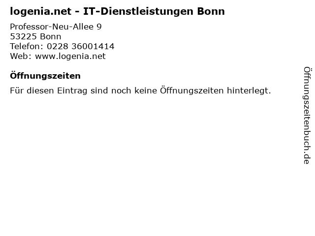 logenia.net - IT-Dienstleistungen Bonn in Bonn: Adresse und Öffnungszeiten