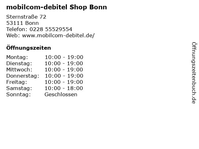 mobilcom-debitel Shop Bonn in Bonn: Adresse und Öffnungszeiten