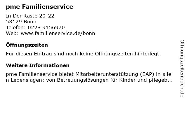 """groothandelaar nieuwe specials nieuwste ontwerp ᐅ Öffnungszeiten """"pme Familienservice GmbH""""   In der Raste ..."""