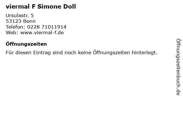 viermal F Simone Doll in Bonn: Adresse und Öffnungszeiten