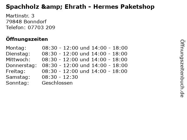 Spachholz & Ehrath - Hermes Paketshop in Bonndorf: Adresse und Öffnungszeiten