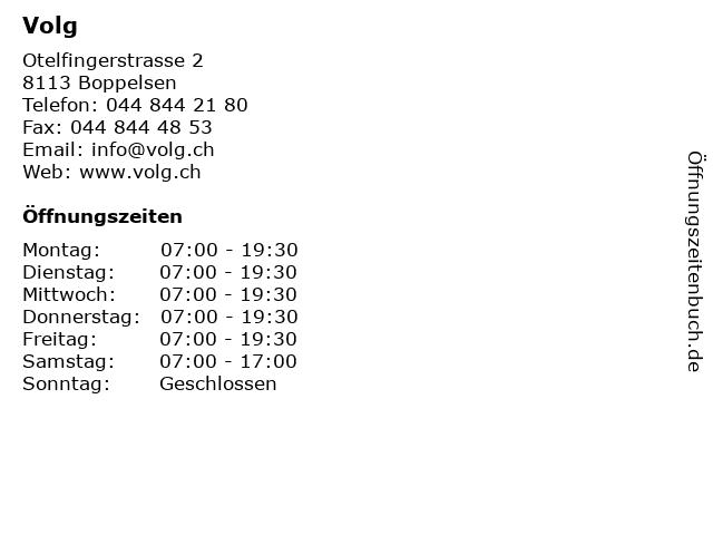 Volg in Boppelsen: Adresse und Öffnungszeiten