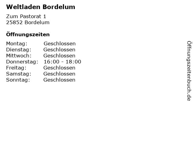 Weltladen Bordelum in Bordelum: Adresse und Öffnungszeiten