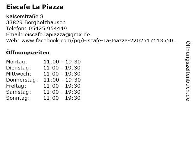 Eiscafe La Piazza in Borgholzhausen: Adresse und Öffnungszeiten