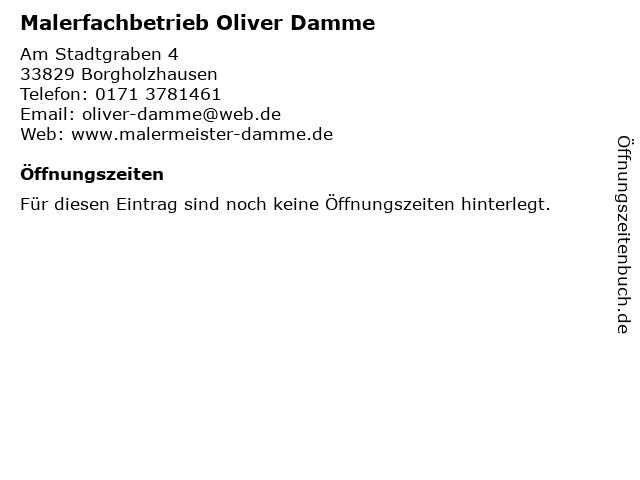 Malerfachbetrieb Oliver Damme in Borgholzhausen: Adresse und Öffnungszeiten