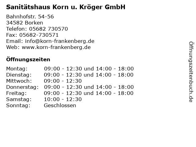 Sanitätshaus Korn u. Kröger GmbH in Borken: Adresse und Öffnungszeiten
