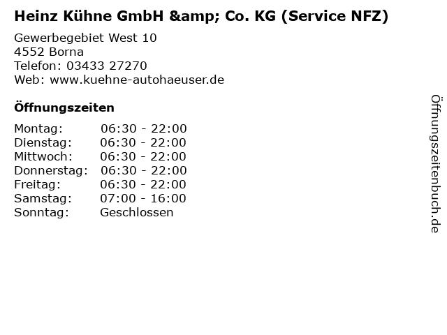 Heinz Kühne GmbH & Co. KG (Service NFZ) in Borna: Adresse und Öffnungszeiten