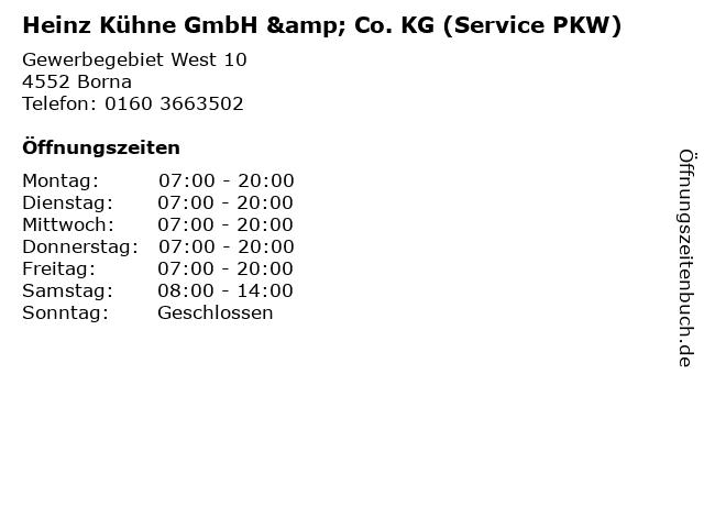 Heinz Kühne GmbH & Co. KG (Service PKW) in Borna: Adresse und Öffnungszeiten