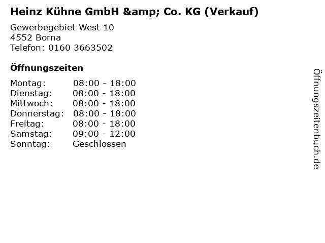 Heinz Kühne GmbH & Co. KG (Verkauf) in Borna: Adresse und Öffnungszeiten