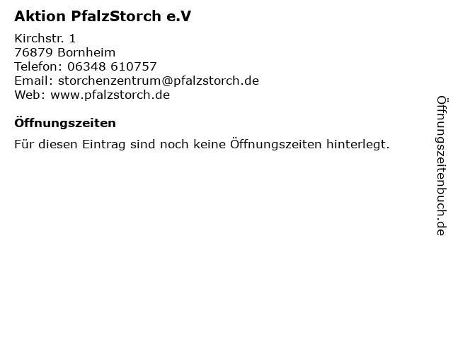 Aktion PfalzStorch e.V in Bornheim: Adresse und Öffnungszeiten