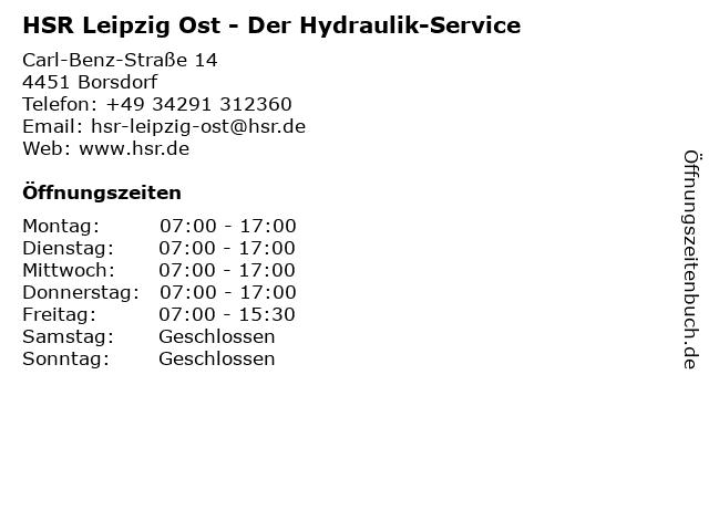 HSR Der Hydraulik-Service in Borsdorf: Adresse und Öffnungszeiten
