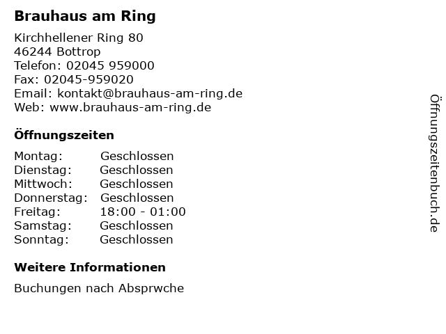 Brauhaus am Ring in Bottrop: Adresse und Öffnungszeiten