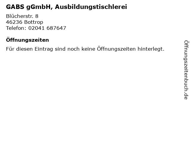 GABS gGmbH, Ausbildungstischlerei in Bottrop: Adresse und Öffnungszeiten