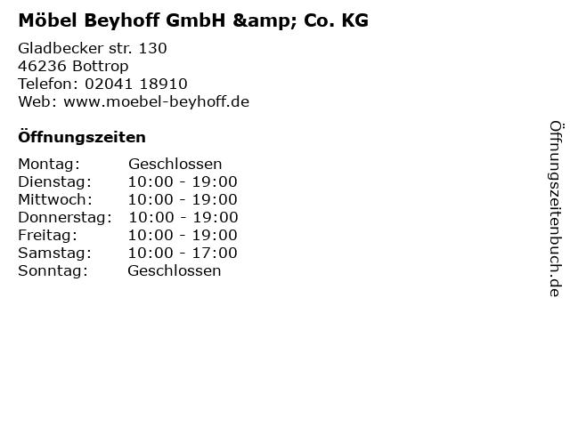 ᐅ öffnungszeiten Möbel Beyhoff Gladbeckerstr 130 In Bottrop