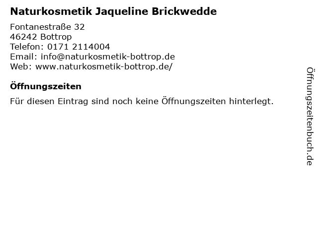 Naturkosmetik Jaqueline Brickwedde in Bottrop: Adresse und Öffnungszeiten