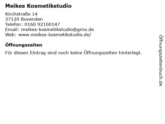Meikes Kosmetikstudio in Bovenden: Adresse und Öffnungszeiten