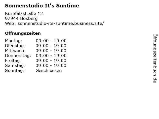 Sonnenstudio It's Suntime in Boxberg: Adresse und Öffnungszeiten