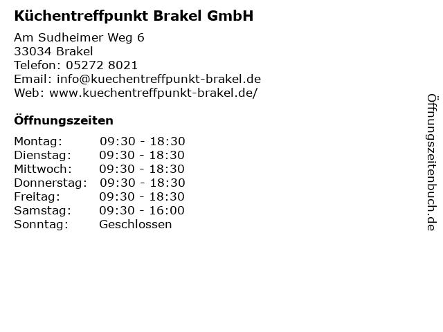 Küchentreffpunkt Brakel GmbH in Brakel: Adresse und Öffnungszeiten
