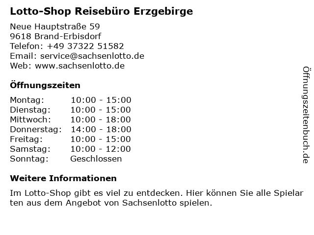 Reisebüro Erzgebirge in Brand-Erbisdorf: Adresse und Öffnungszeiten