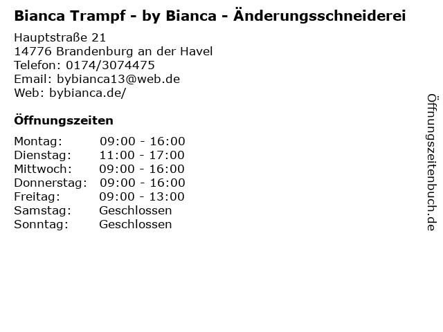 Bianca Trampf - by Bianca - Änderungsschneiderei in Brandenburg an der Havel: Adresse und Öffnungszeiten