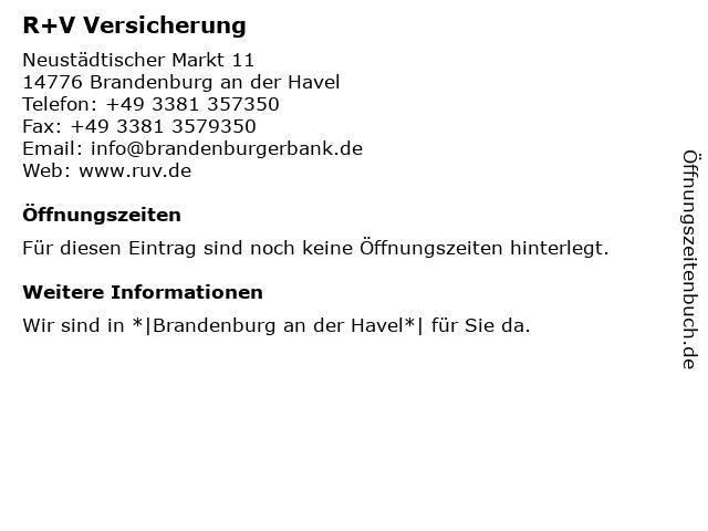 Brandenburger Bank Volksbank-Raiffeisenbank eG (Geldautomat) in Brandenburg: Adresse und Öffnungszeiten