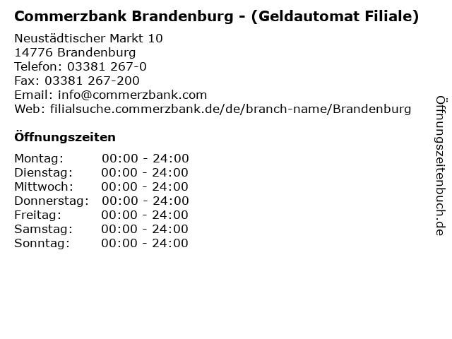 Commerzbank Brandenburg - (Geldautomat Filiale) in Brandenburg: Adresse und Öffnungszeiten