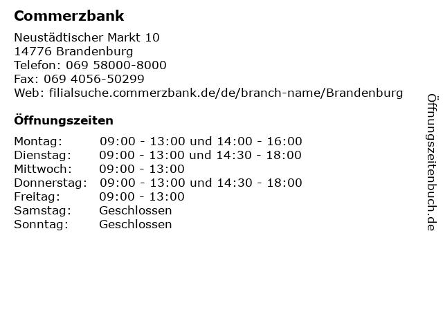 Commerzbank Brandenburg in Brandenburg: Adresse und Öffnungszeiten
