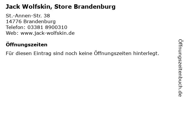 Jack Wolfskin, Store Brandenburg in Brandenburg: Adresse und Öffnungszeiten