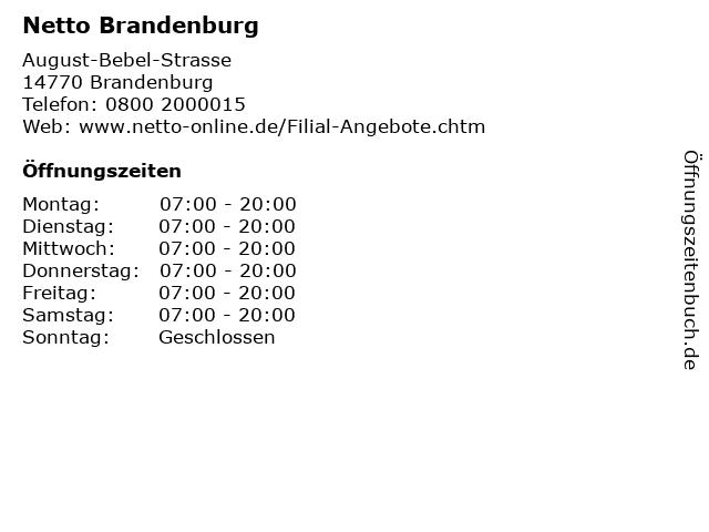 Netto Brandenburg in Brandenburg: Adresse und Öffnungszeiten