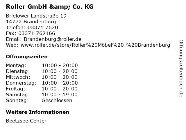 Roller GmbH & Co. KG in Brandenburg: Adresse und Öffnungszeiten
