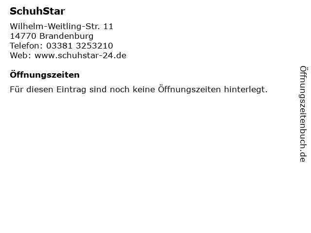 SchuhStar in Brandenburg: Adresse und Öffnungszeiten