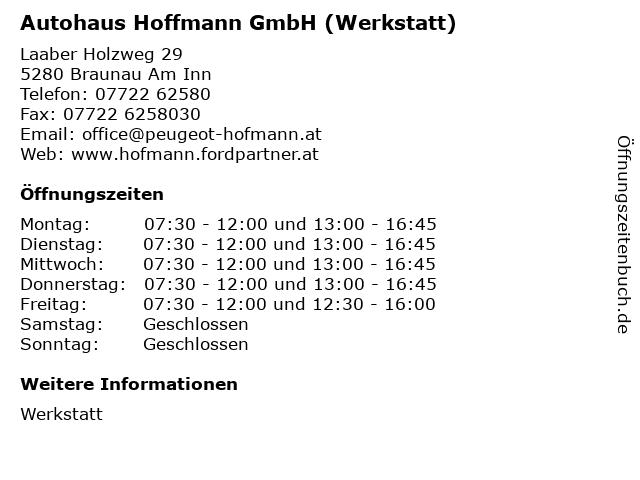 Autohaus Hoffmann GmbH (Werkstatt) in Braunau Am Inn: Adresse und Öffnungszeiten