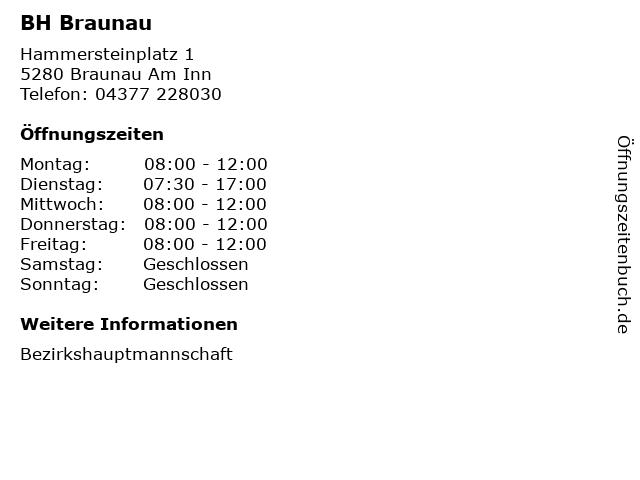 ᐅ öffnungszeiten Bh Braunau Hammersteinplatz 1 In Braunau Am Inn