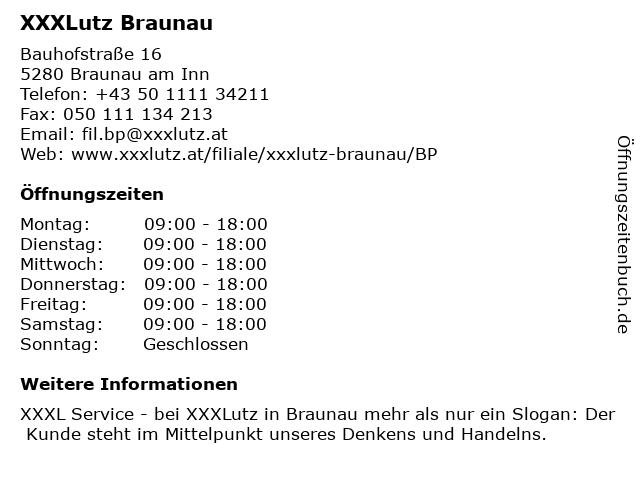 XXXLutz Braunau in Braunau am Inn: Adresse und Öffnungszeiten