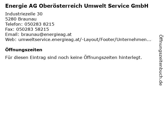Energie AG Oberösterreich Umwelt Service GmbH in Braunau: Adresse und Öffnungszeiten