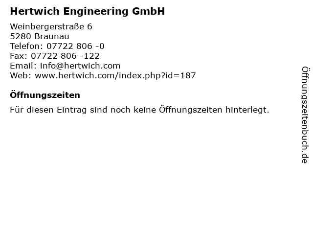 Hertwich Engineering GmbH in Braunau: Adresse und Öffnungszeiten