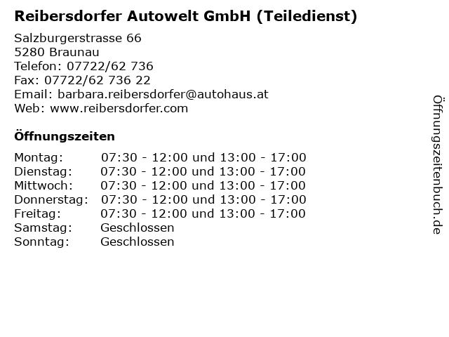Reibersdorfer Autowelt GmbH (Teiledienst) in Braunau: Adresse und Öffnungszeiten