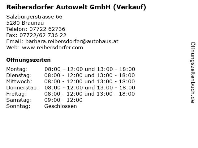 Reibersdorfer Autowelt GmbH (Verkauf) in Braunau: Adresse und Öffnungszeiten