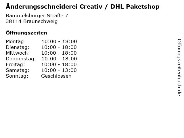 Änderungsschneiderei Creativ / DHL Paketshop in Braunschweig: Adresse und Öffnungszeiten