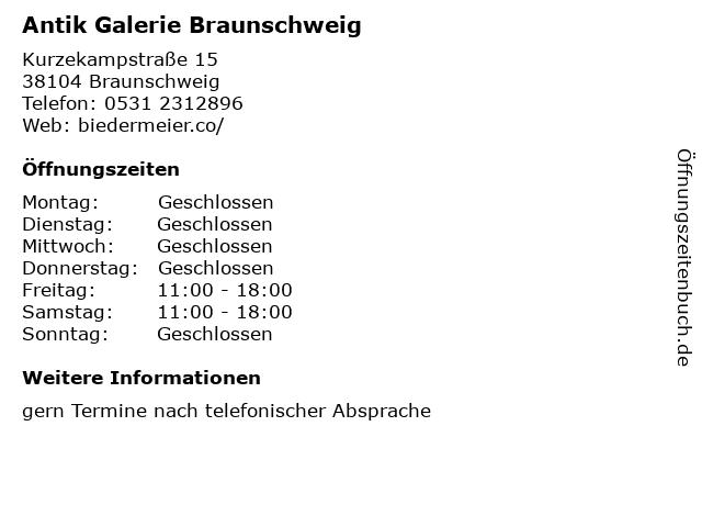Antik Galerie Braunschweig in Braunschweig: Adresse und Öffnungszeiten